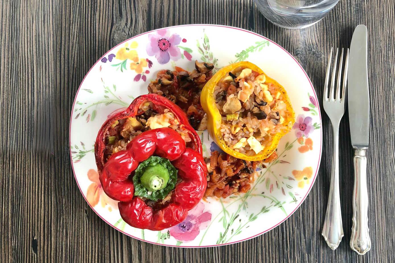 Gefüllte Paprika Vegetarisch Kajnok