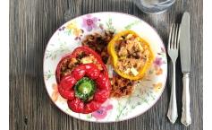 Gefüllte Paprika, vegetarisch