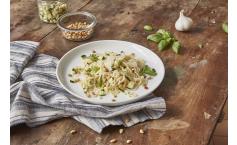 Bio Abnehm-Spaghetti mit Basilikum-Zucchini-Pesto