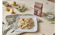 Bio Abnehm-Nudeln mit Zucchini-Lachssoße